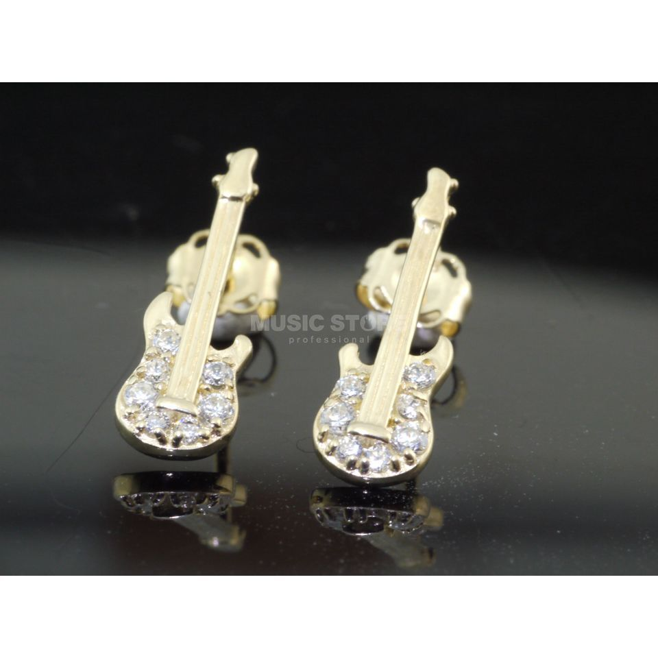 Rockys Earrings E-Guitar Gold 333/8 Karat, zirconia Produktbillede