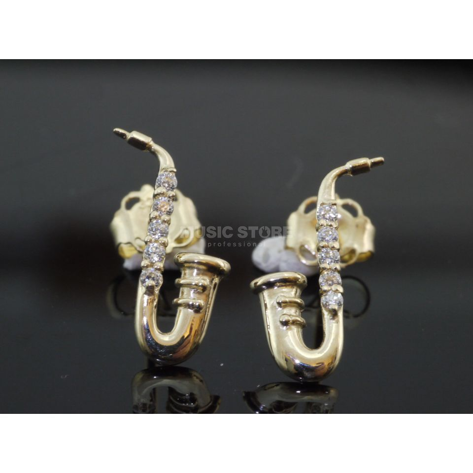Rockys Earrings Saxophone Gold 333/8 Karat, zirconia Produktbillede