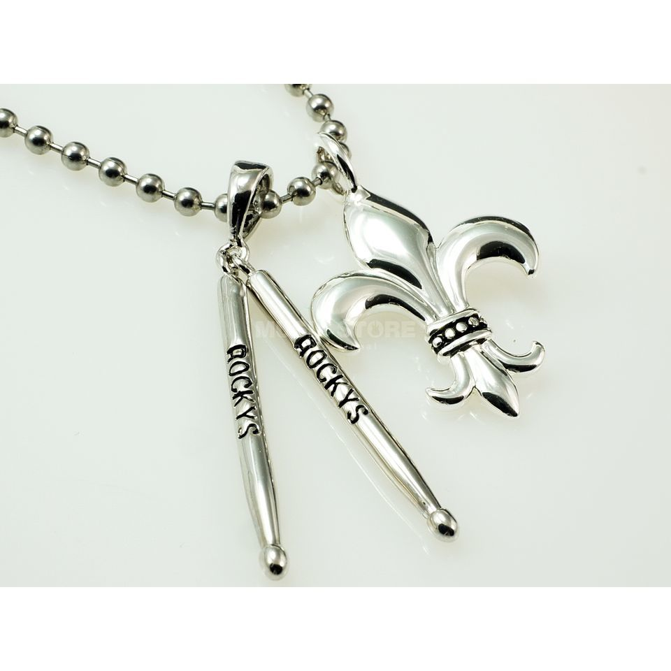 Rockys Pendant Sticks + Lily with chain silver plated Produktbillede