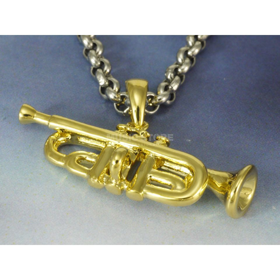 Rockys Pendant Trumpet gold plated Produktbillede