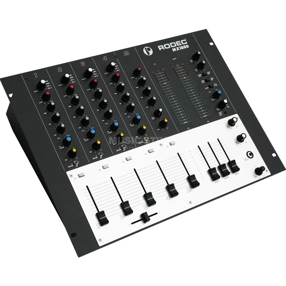 "Rodec MX1800 USB 5-Channel Audio Mixer, 19"" Produktbillede"