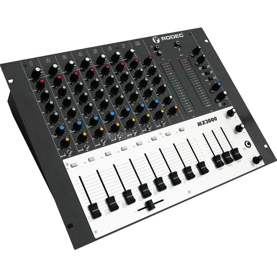 "Rodec MX3000 8-Channel Audio Mixer, 19"" Produktbillede"