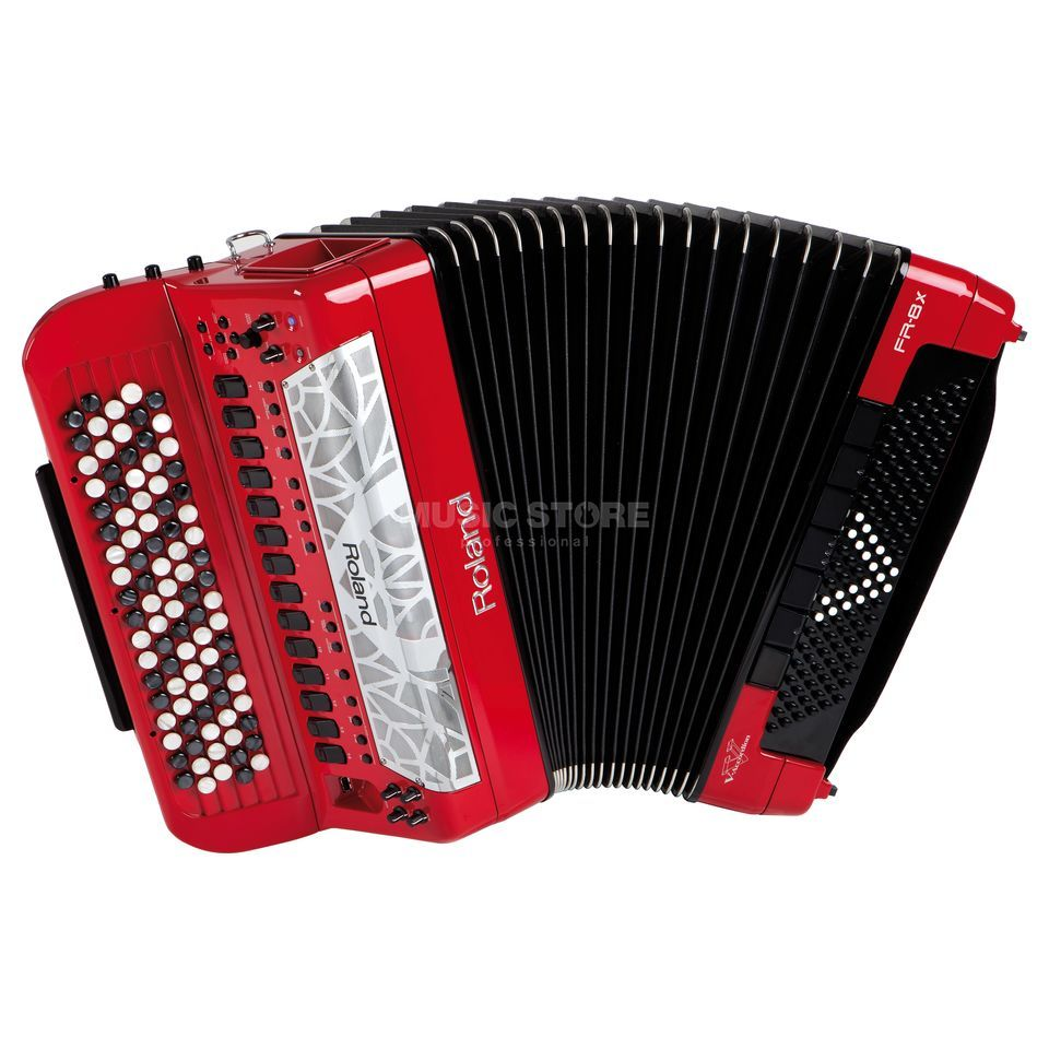 Roland FR-8xb RD Button-Accordion Red Produktbillede