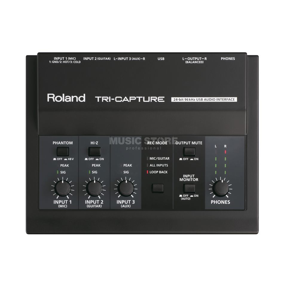 Roland Tri-Capture USB Audio Interface Produktbillede