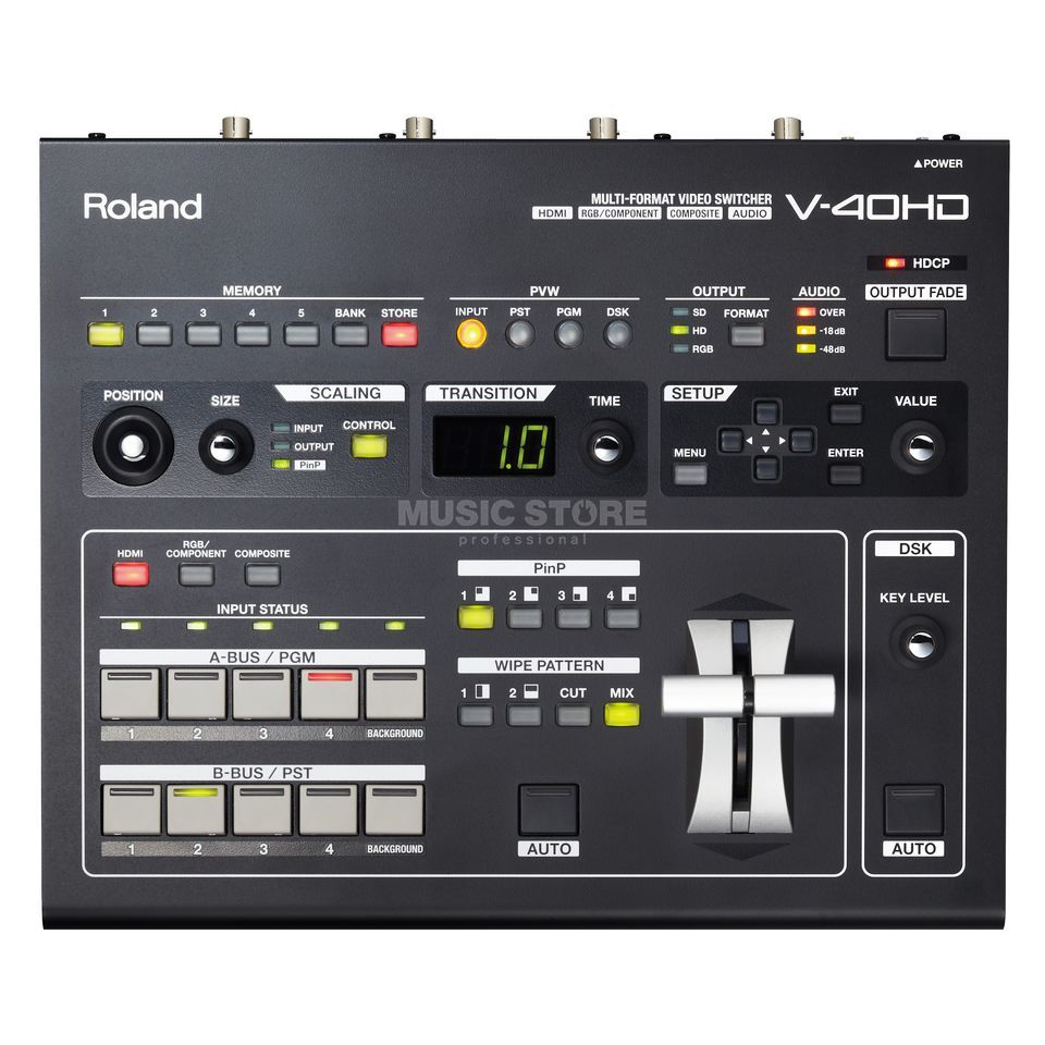 Roland V-40 HD Multi-Format Live Video Switch Produktbild