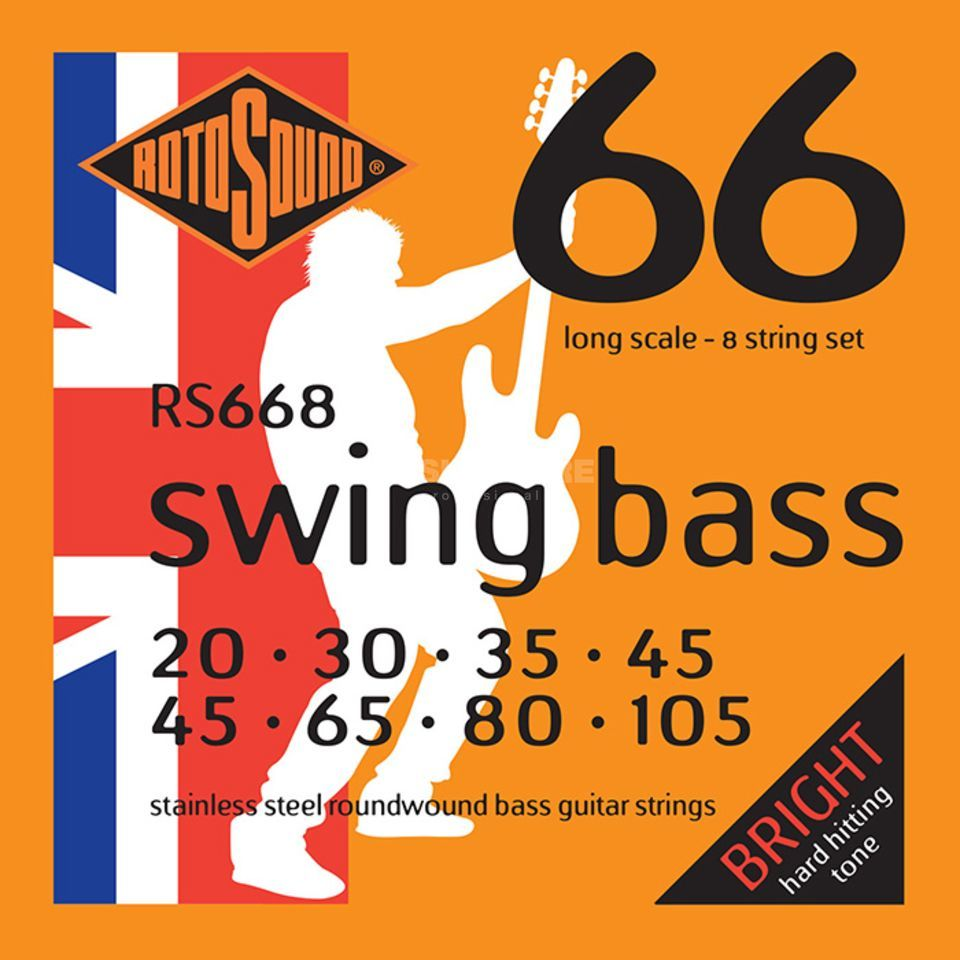 Rotosound bas snaren RS668 8-string Swing bas 66, Stainless Steel Productafbeelding