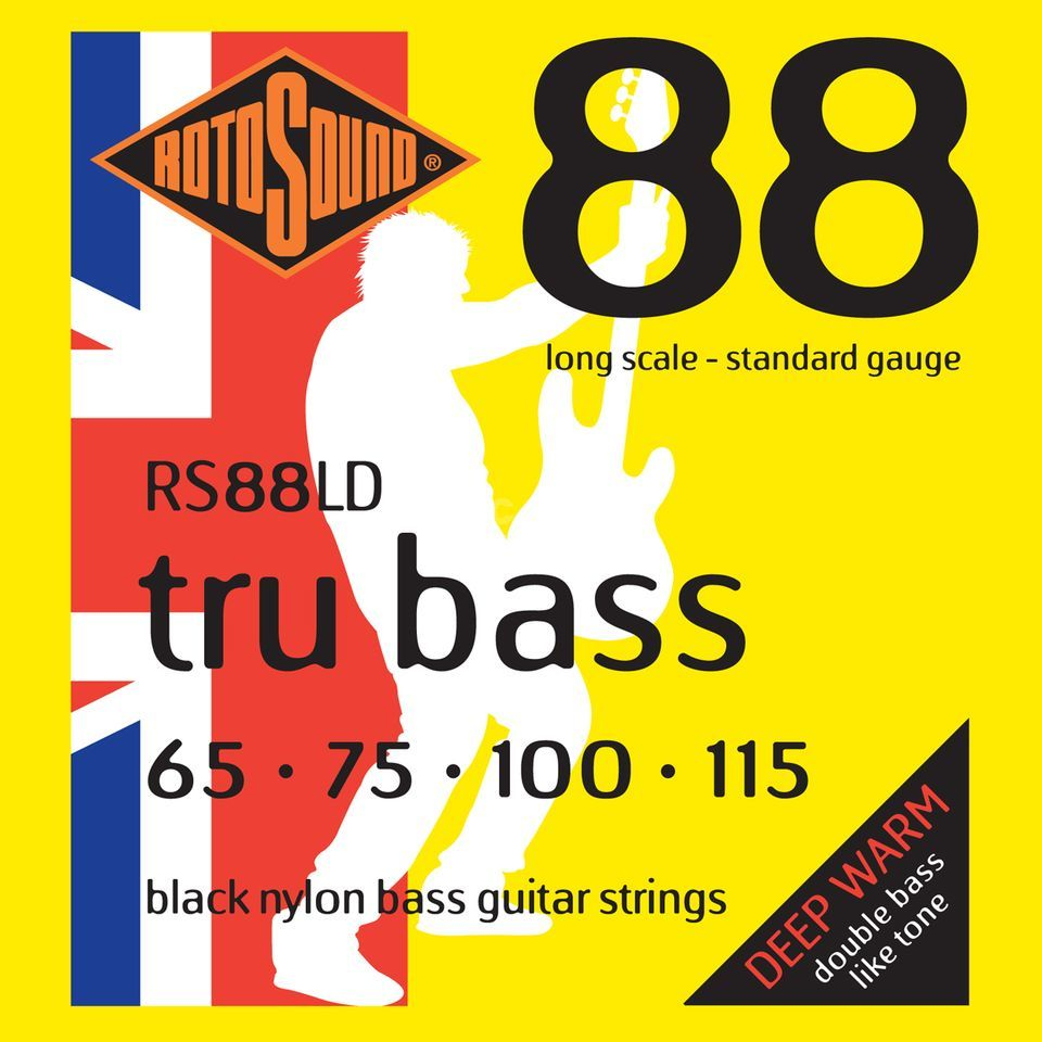 Rotosound Bass String Black Nylon 65-115 Flat Wound Product Image