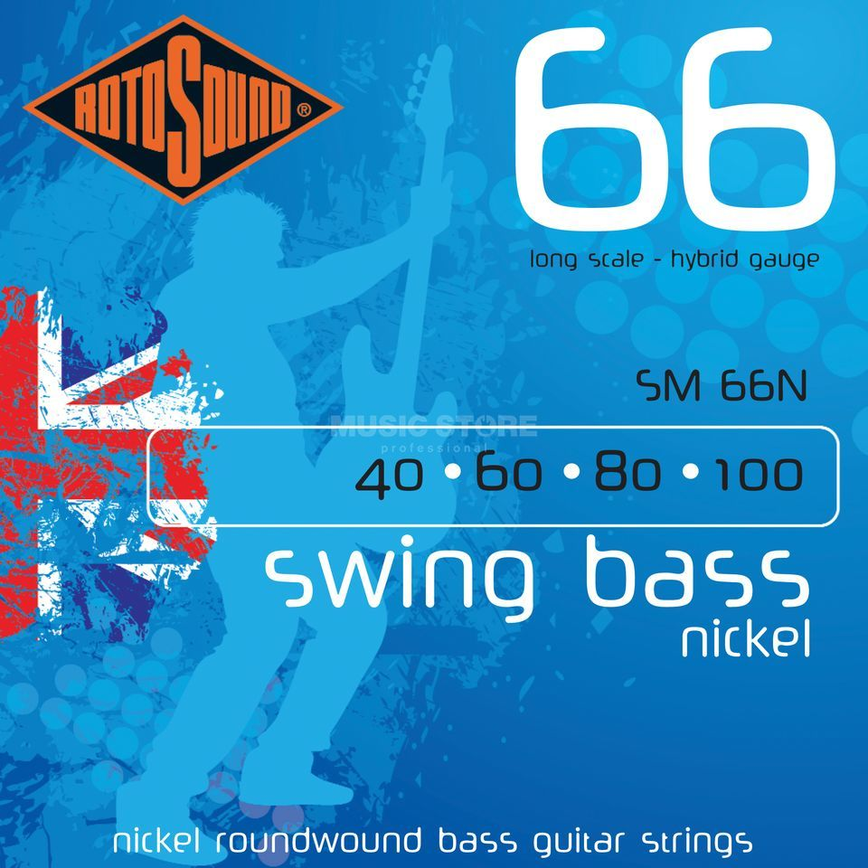 Rotosound Bass Strings,40-100,Nickel 4 string set Imagem do produto