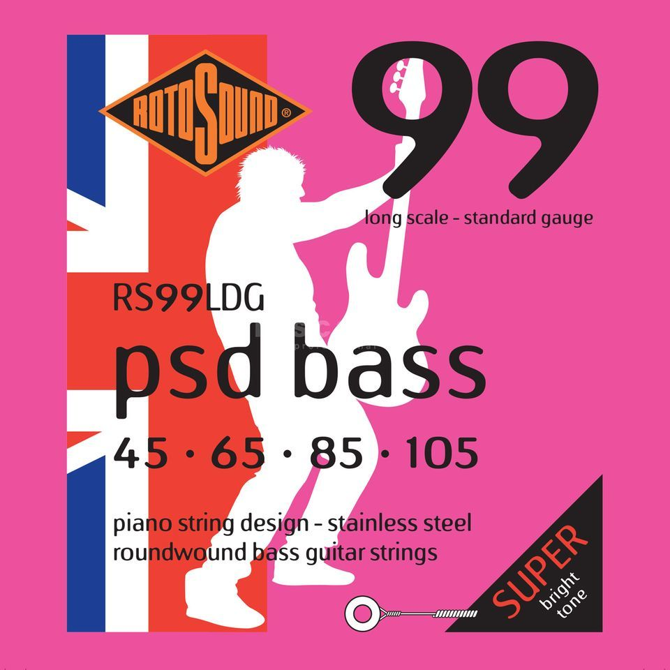 Rotosound Bass Strings RS99LDG 45-105 PSD Bass 99, Stainless Steel Immagine prodotto