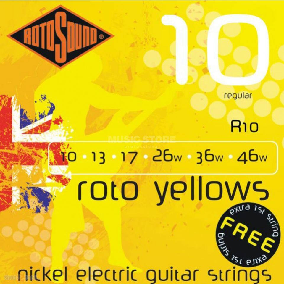 Rotosound R10 Roto Yellows    Produktbillede