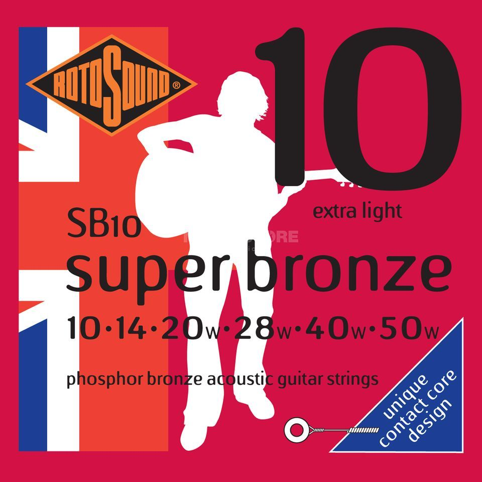 Rotosound Super Bronze SB10 10-50 Contact Core Phosphor Bronze Produktbild