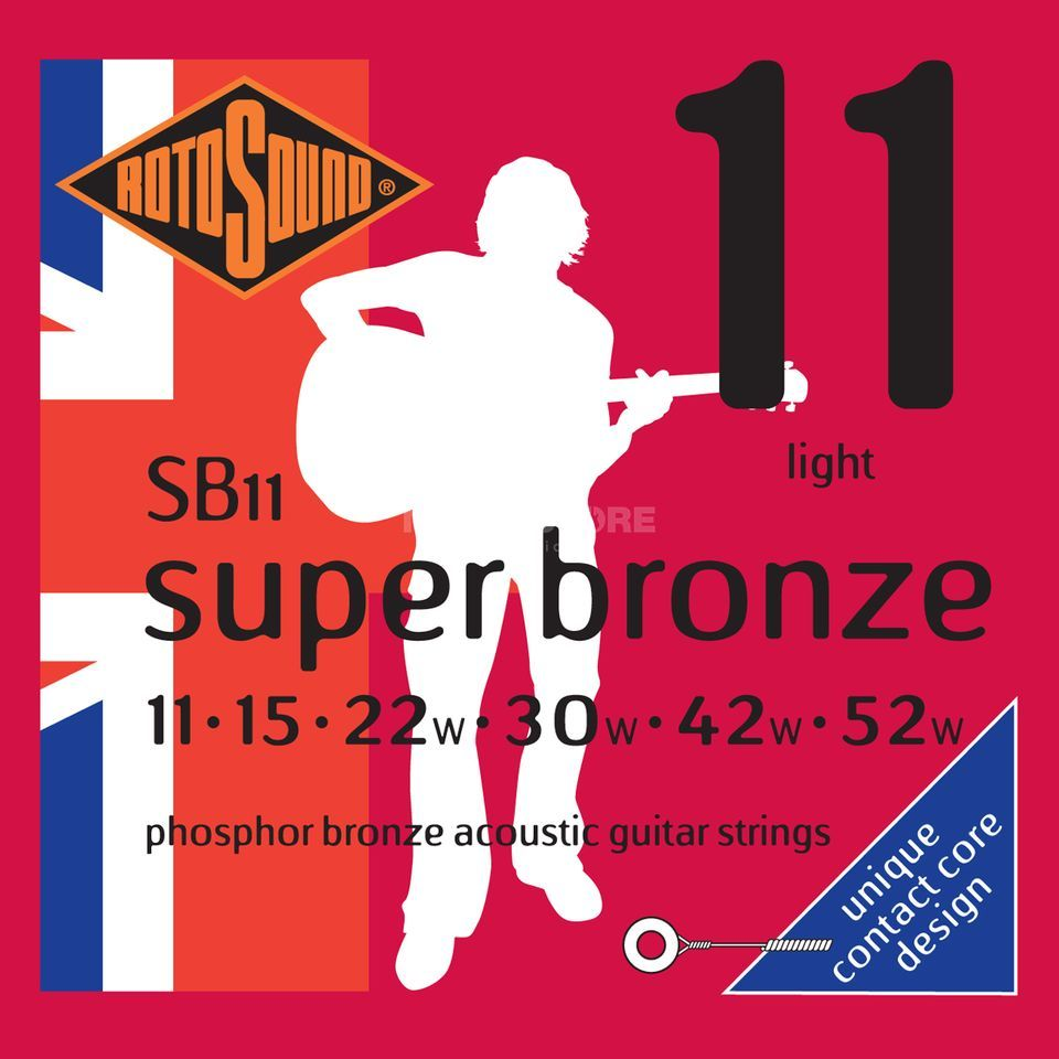 Rotosound Super Bronze SB11 11-52 Contact Core Phosphor Bronze Produktbild