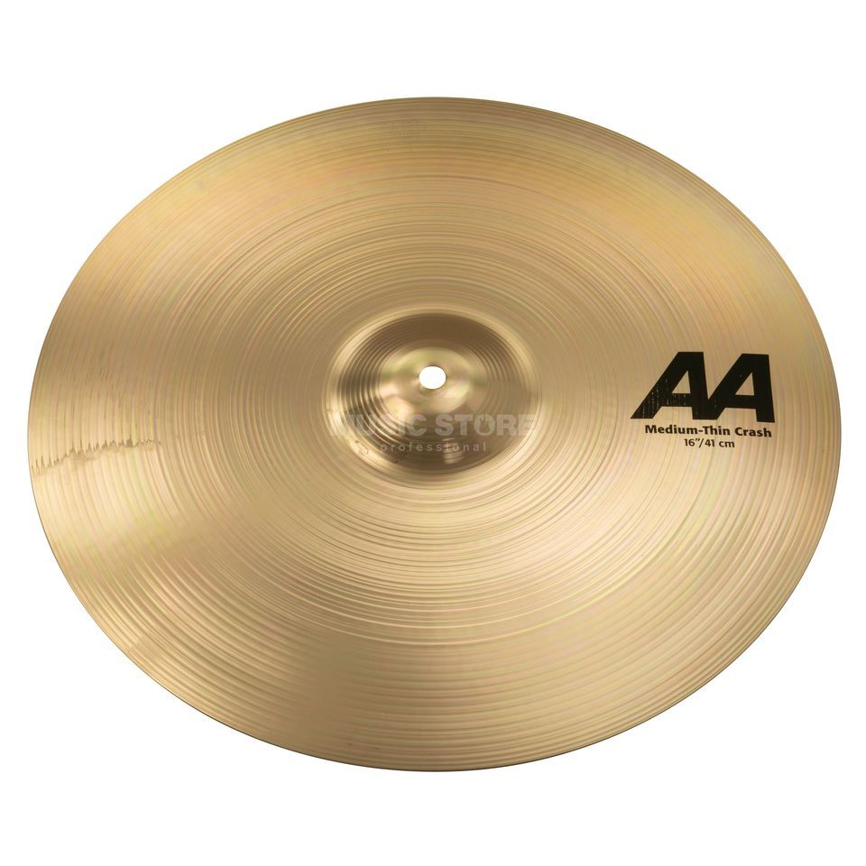 "Sabian AA Medium Thin Crash 16"" Brilliant Finish Produktbillede"