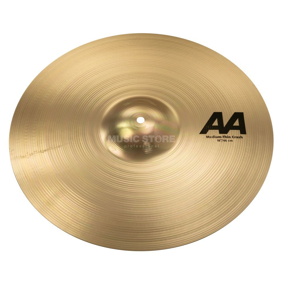 "Sabian AA Medium Thin Crash 18"" Brilliant Finish Produktbillede"