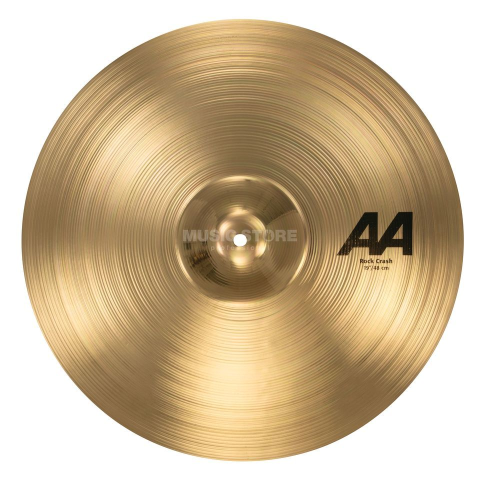 "Sabian AA Rock Crash 19"", Brilliant Finish Product Image"