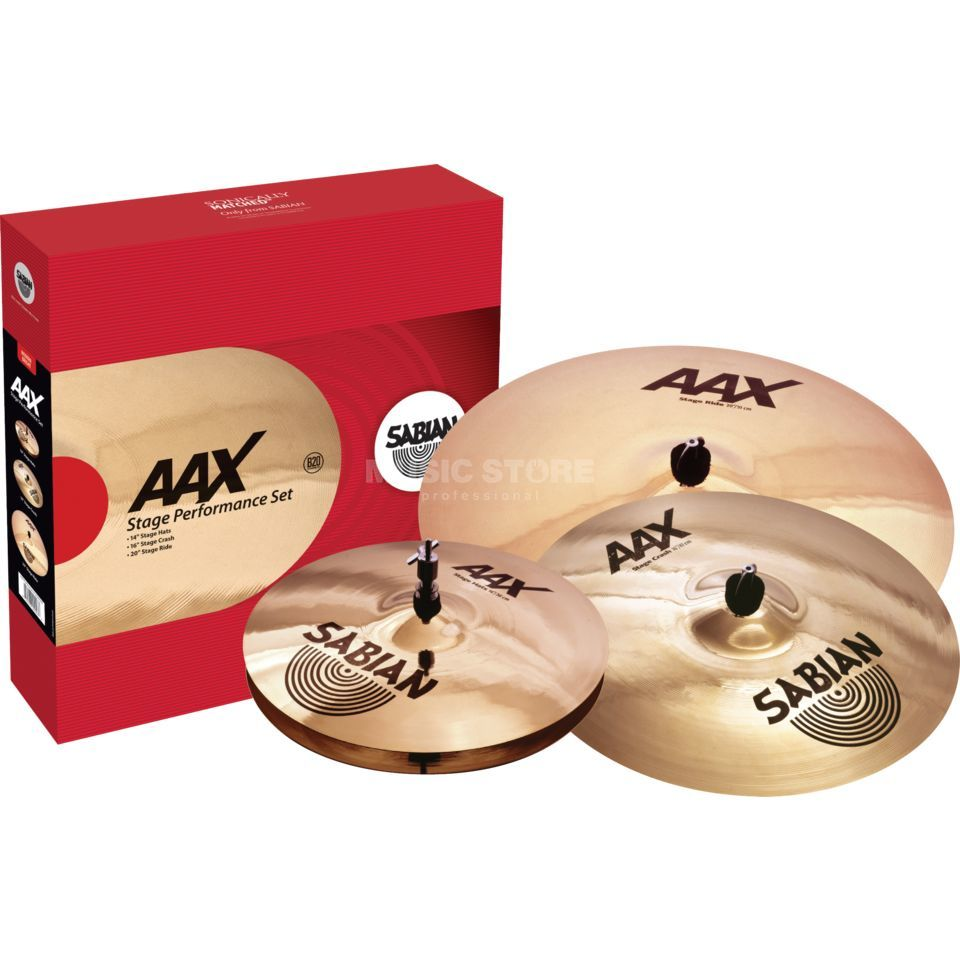 "Sabian AAX Performance CymbalSet, 14""HH, 16""CR, 20""R Product Image"