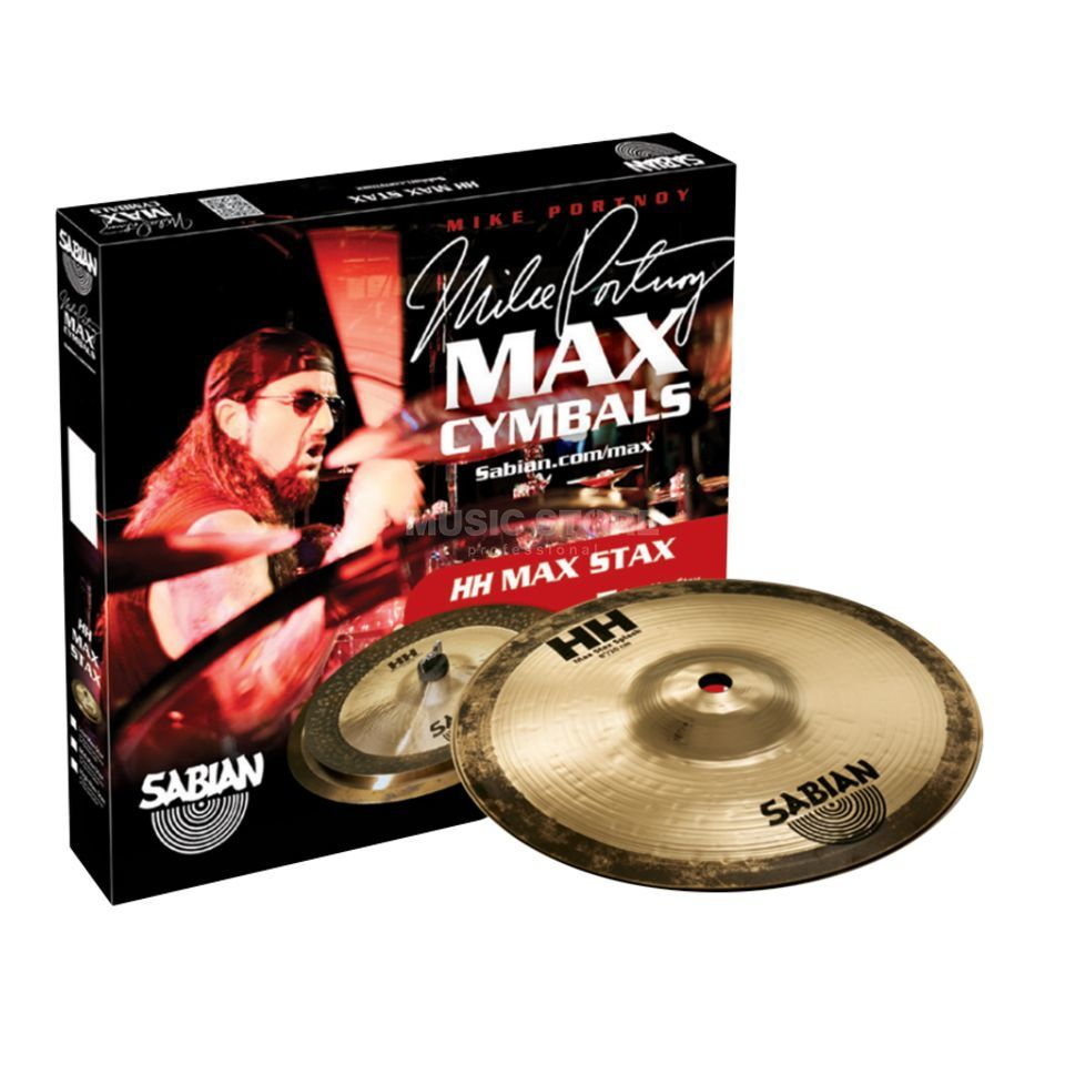 "Sabian HH Max Stax High, Mike Portnoy 8"" Splash, 8"" China Kang Produktbild"