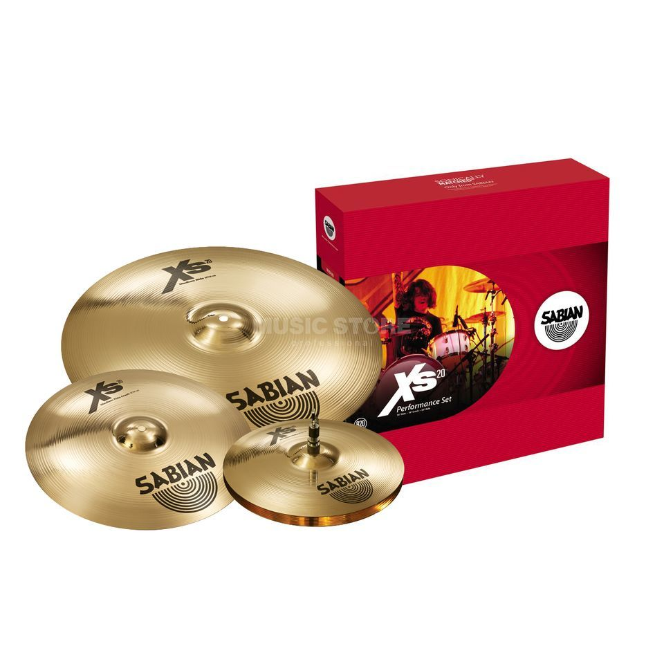 Sabian XS20 Cymbal Set Performance, Brilliant Finish Produktbild
