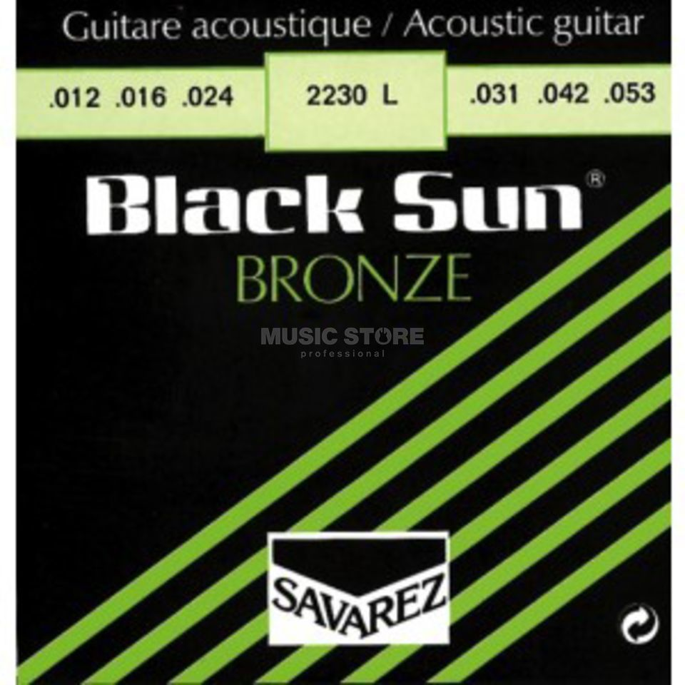 Savarez A-Git.Saiten 2230 L 12-53 Black Sun Bronze Light Produktbild