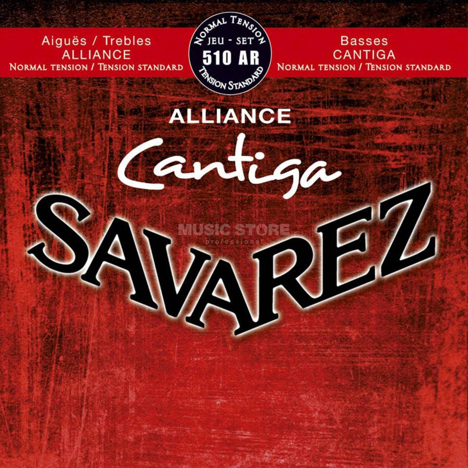 Savarez Cantiga 510 AR normal tension Nylon, Bässe versilbert Produktbild