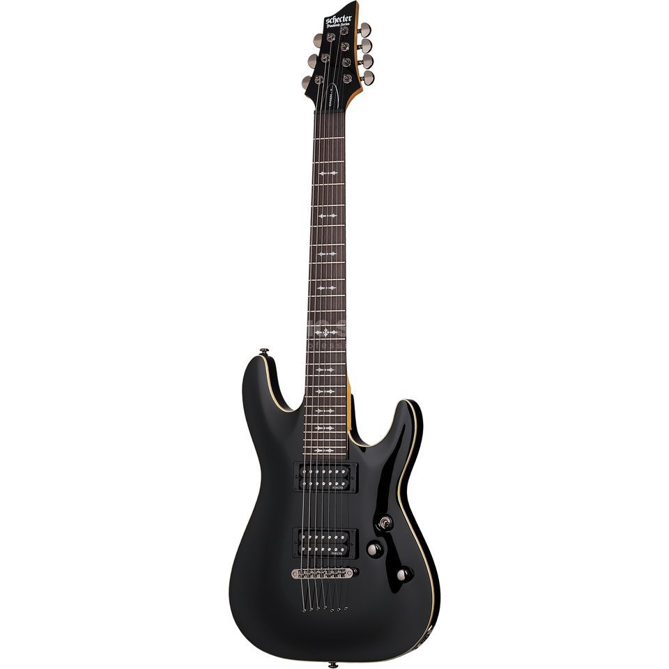Schecter Omen-7 Gloss Black Product Image
