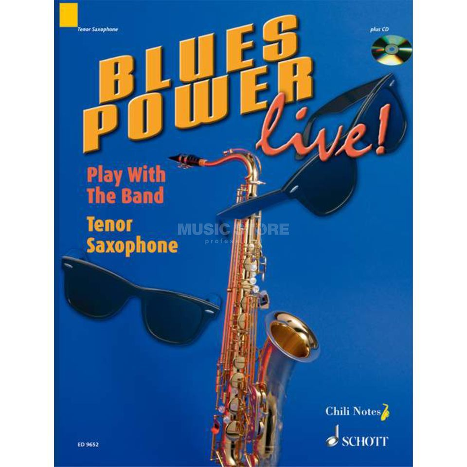 Schott Music Blues Power live! Tenor-Sax Dechert, Buch und Playalong CD Produktbillede
