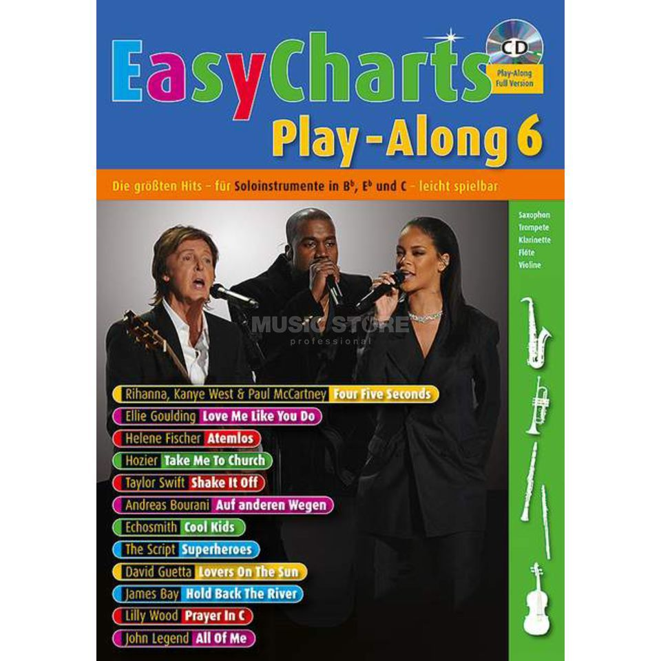 Schott Music Easy Charts 6 Play-Along Produktbillede