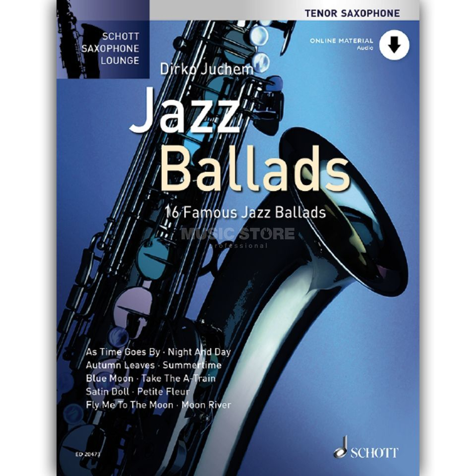 Schott Music Jazz Ballads - Tenor-Sax Juchem, Buch/CD Product Image