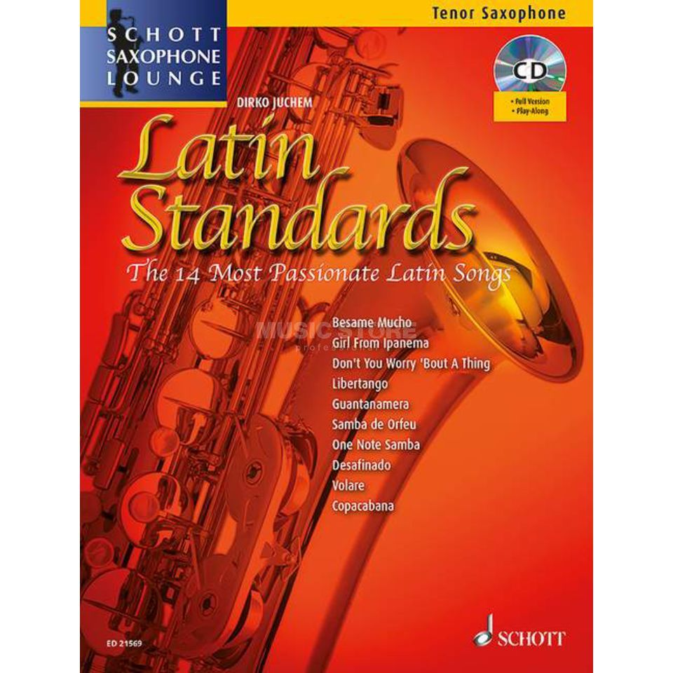 Schott Music Latin Standards - Tenor-Sax Juchem, Buch/CD Produktbild