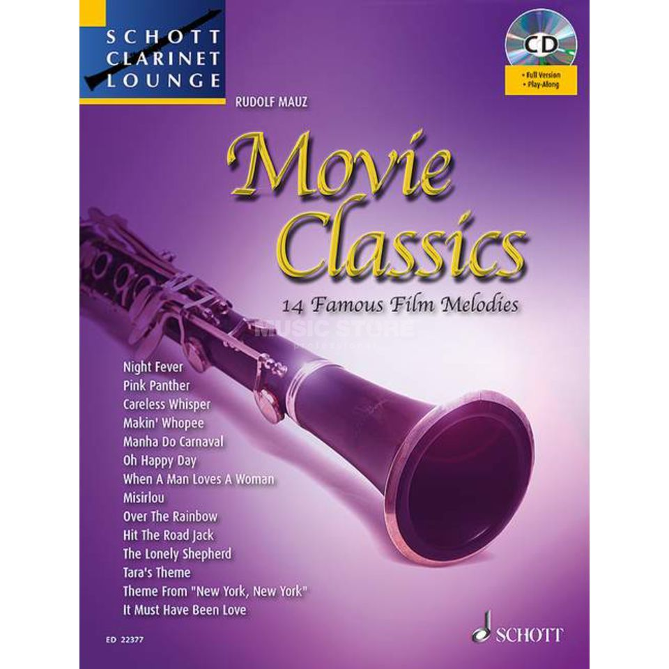 Schott Music Movie Classics - Klarinette Juchem, Buch/CD Imagem do produto