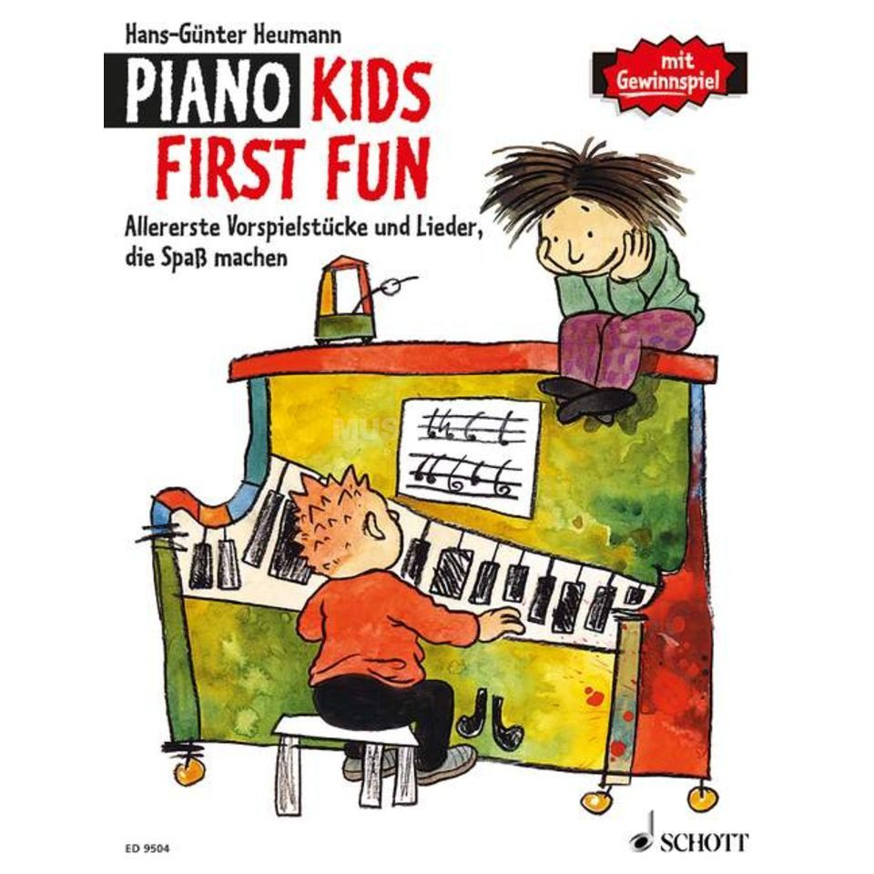 Schott Music Piano Kids First Fun Hans-Günter Heumann, Buch Produktbillede