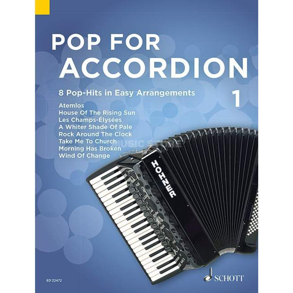 Schott Music Pop For Accordion 1 Productafbeelding