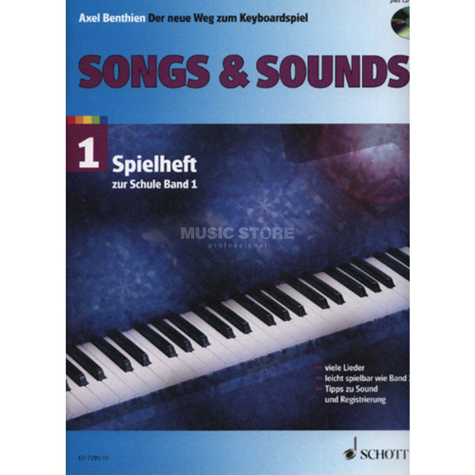 Schott Music Songs & Sounds 1, Spielheft Axel Benthien, Keyboard Produktbild