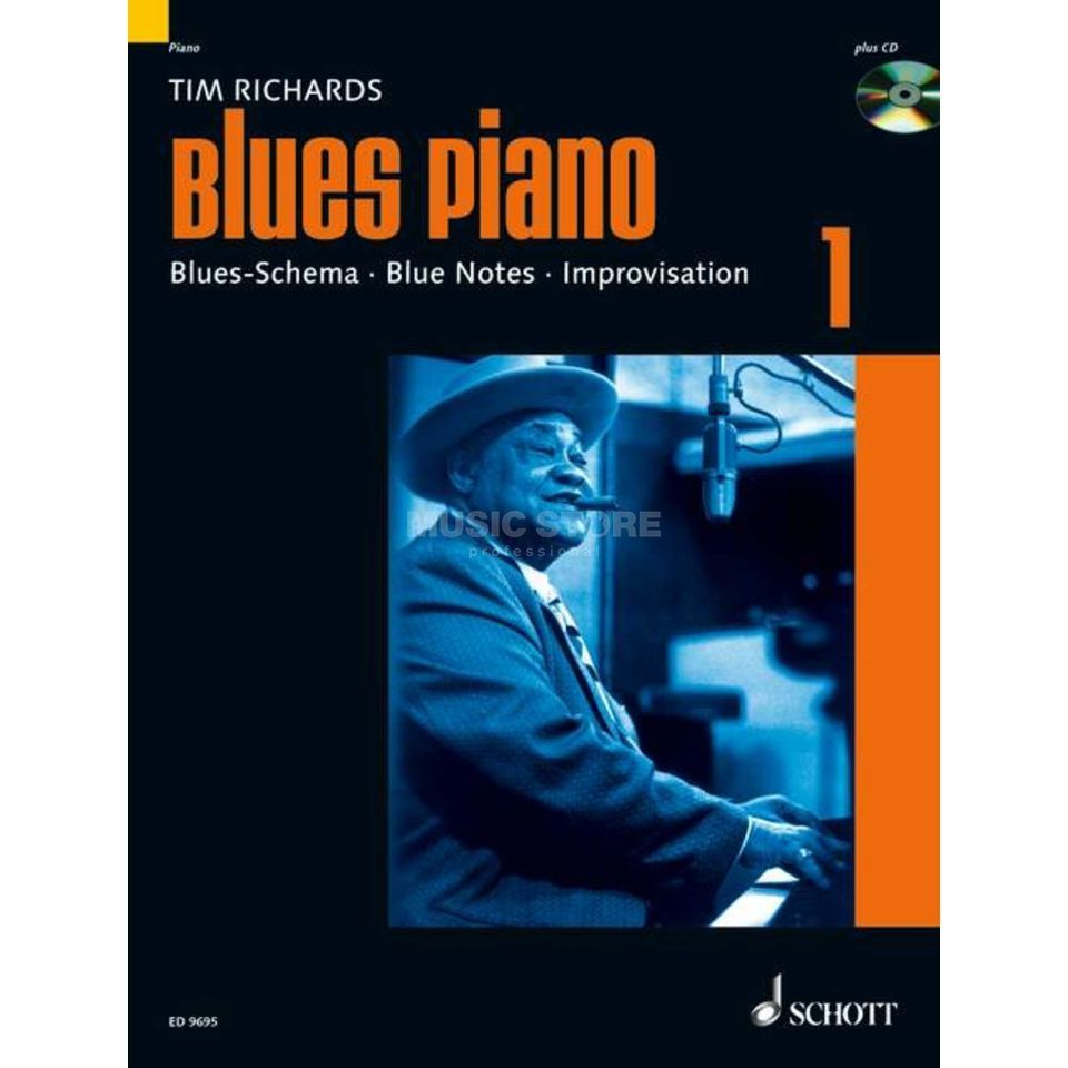 Schott-Verlag Blues Piano Band 1 Tim Richards, Buch/CD Produktbillede