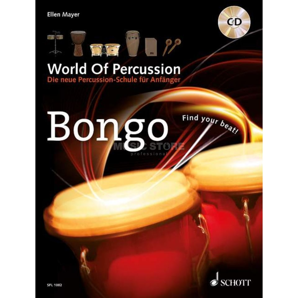 Schott-Verlag Bongo 2, World of Percussion Ellen Mayer Produktbillede