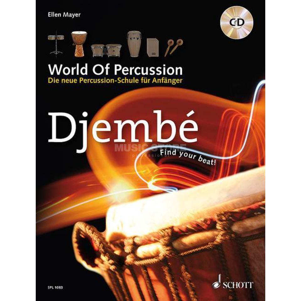 Schott-Verlag Djembe, World Of Percussion Ellen Mayer, mit CD Produktbillede