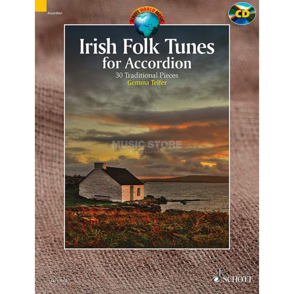 Schott-Verlag Irish Folk Tunes for Accordion Produktbillede