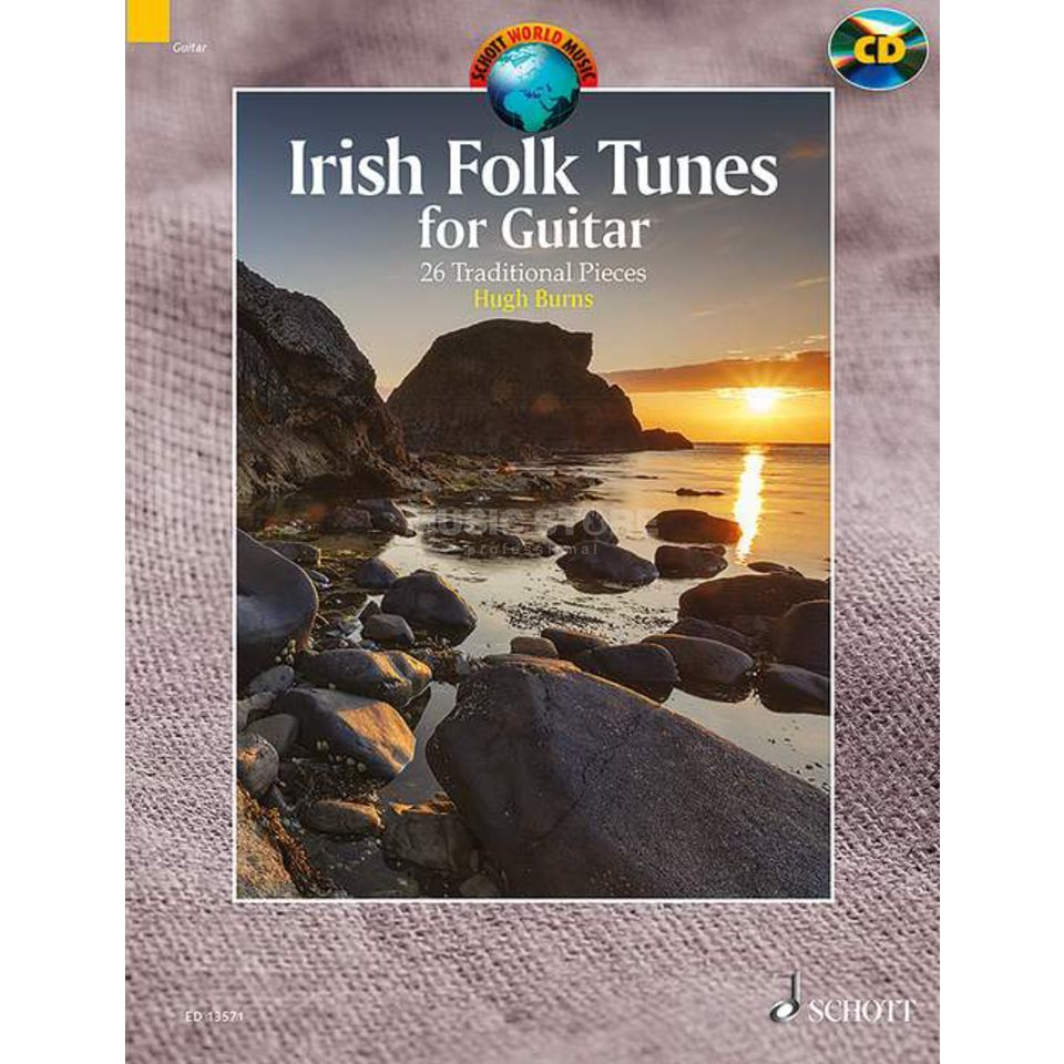 Schott-Verlag Irish Folk Tunes for Guitar Hugh Burns, inkl. CD Produktbild