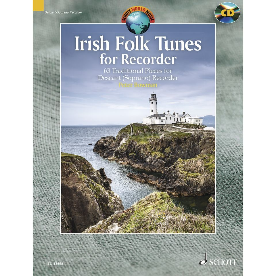Schott-Verlag Irish Folk Tunes for Recorder Peter Bowman, inkl. CD Produktbillede