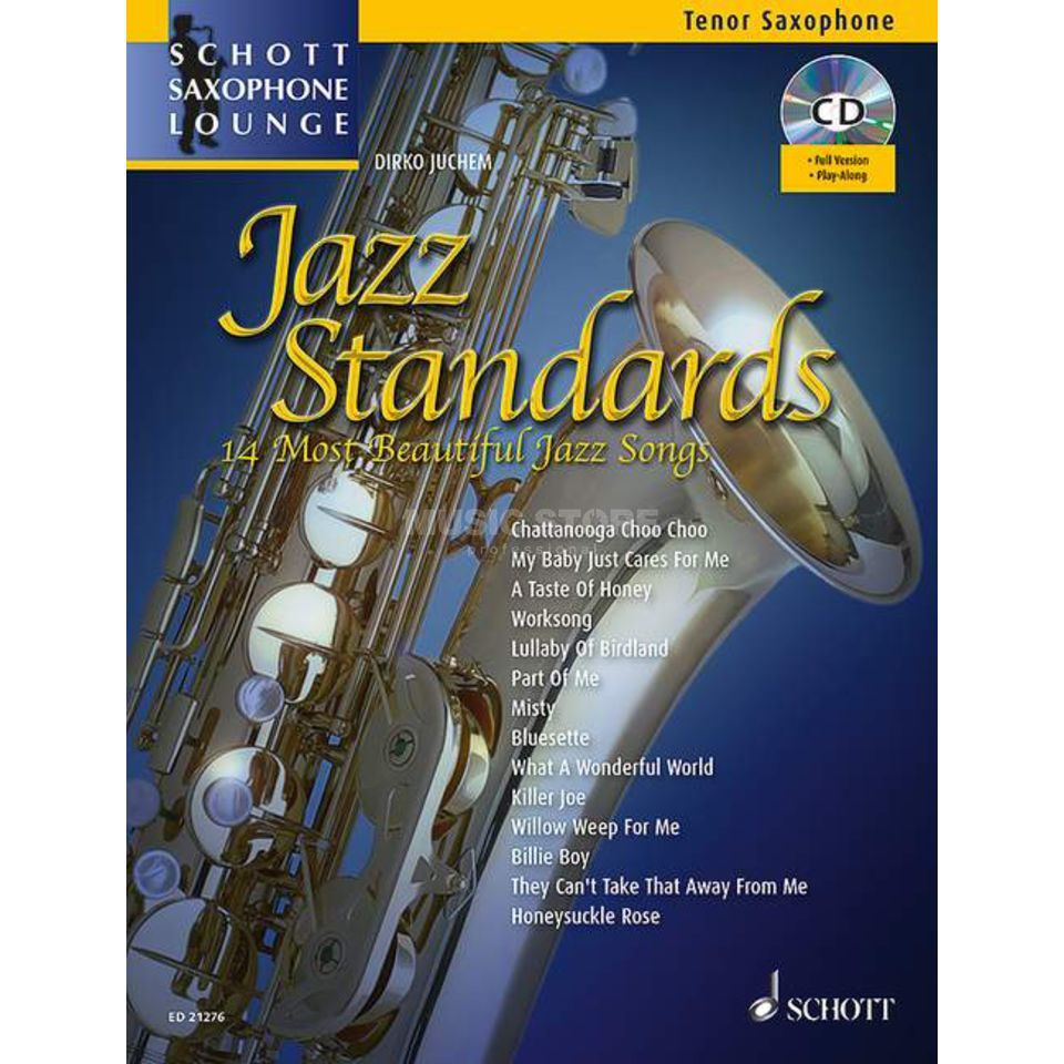 Schott-Verlag Jazz Standards - Tenor-Sax Juchem, Buch/CD Product Image