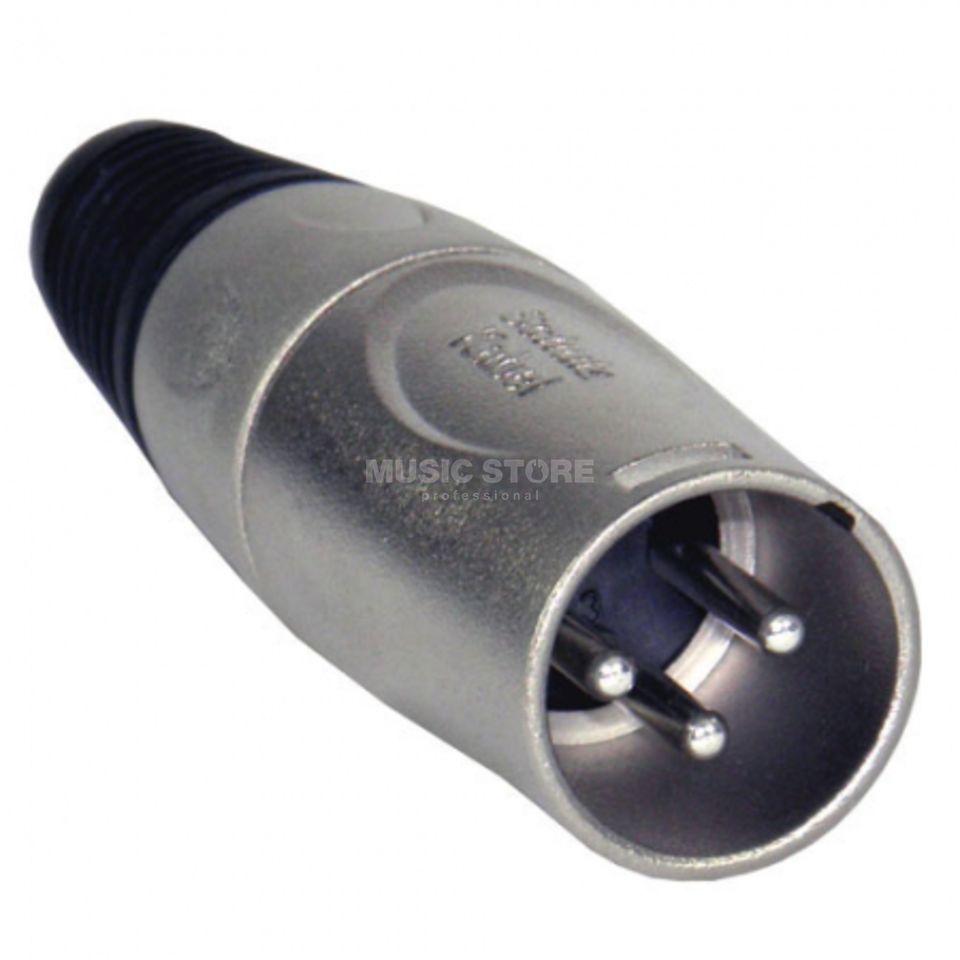 Schulzkabel S 101 XLR-Kabelstecker 3 pol. Metallgeh., Spannzange, Tülle