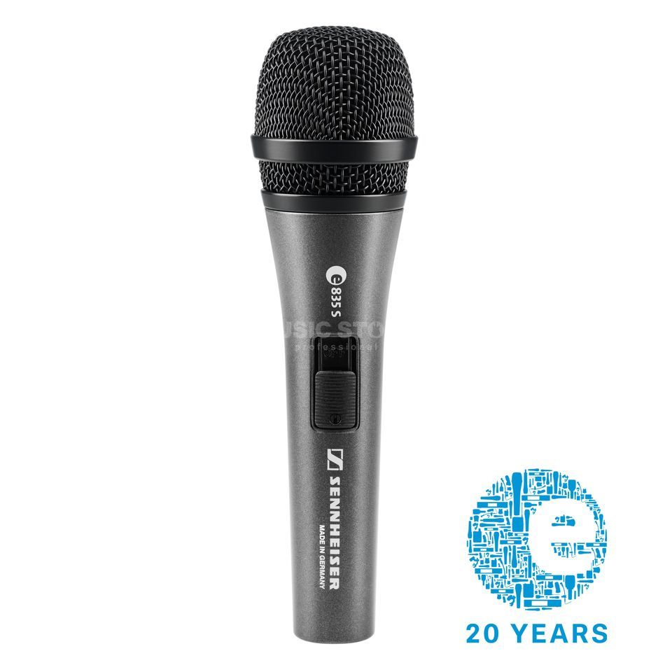 Sennheiser E 835 S Evolution dynamic Microphone, Switch Produktbillede