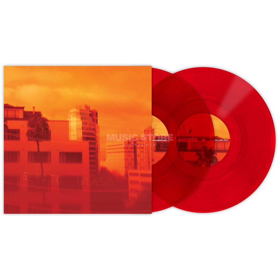 "Serato 10"" Control Vinyls Red Glass (pair) Product Image"