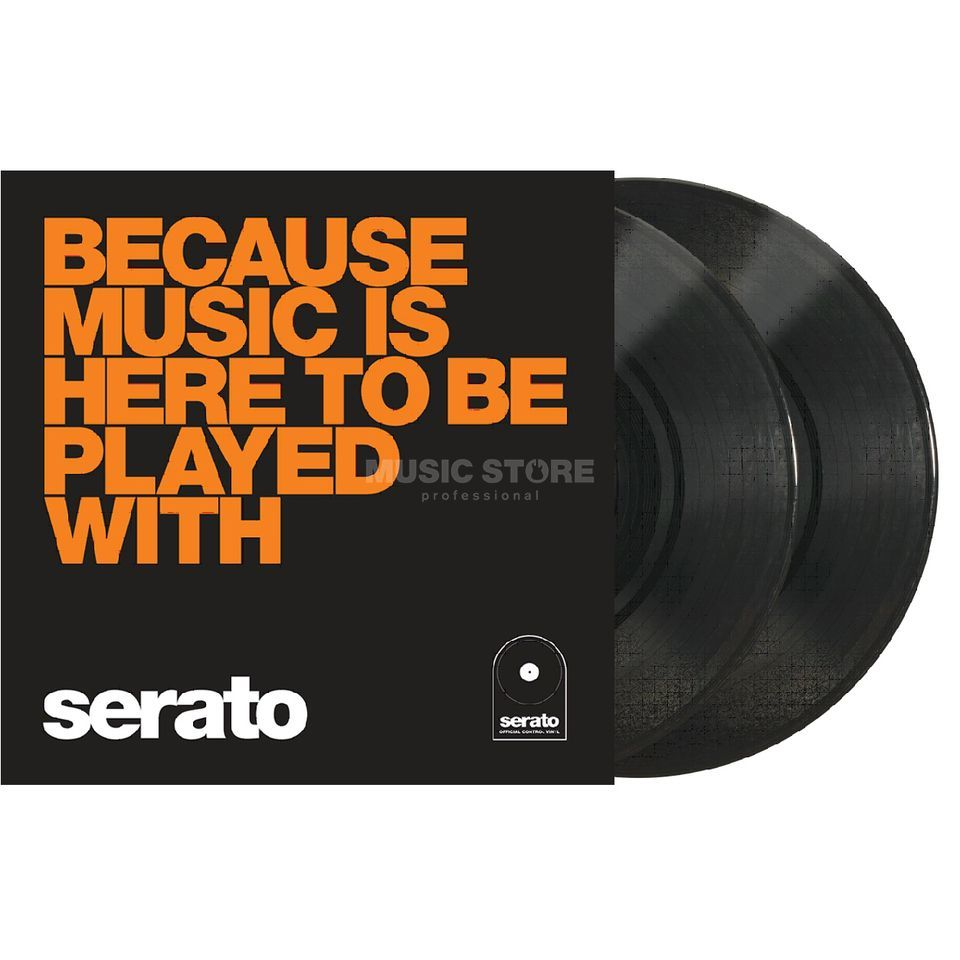 "Serato Manifesto 10"" Control Vinyls Black, Because Music Product Image"