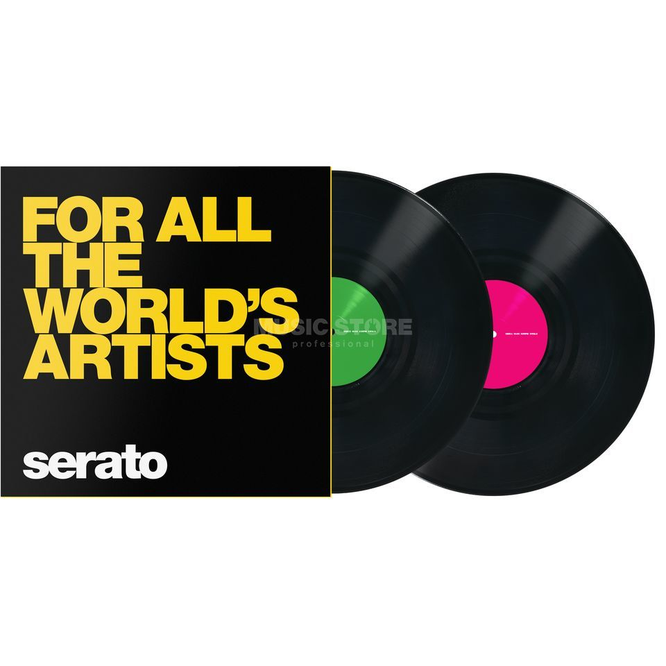 Serato Manifesto Control Vinyls Black, For All The Worlds Product Image