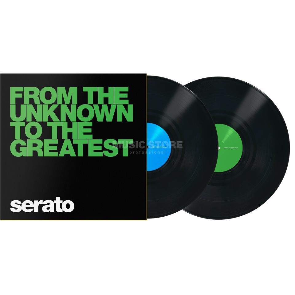 Serato Manifesto Control Vinyls preto, From the Unknown Imagem do produto