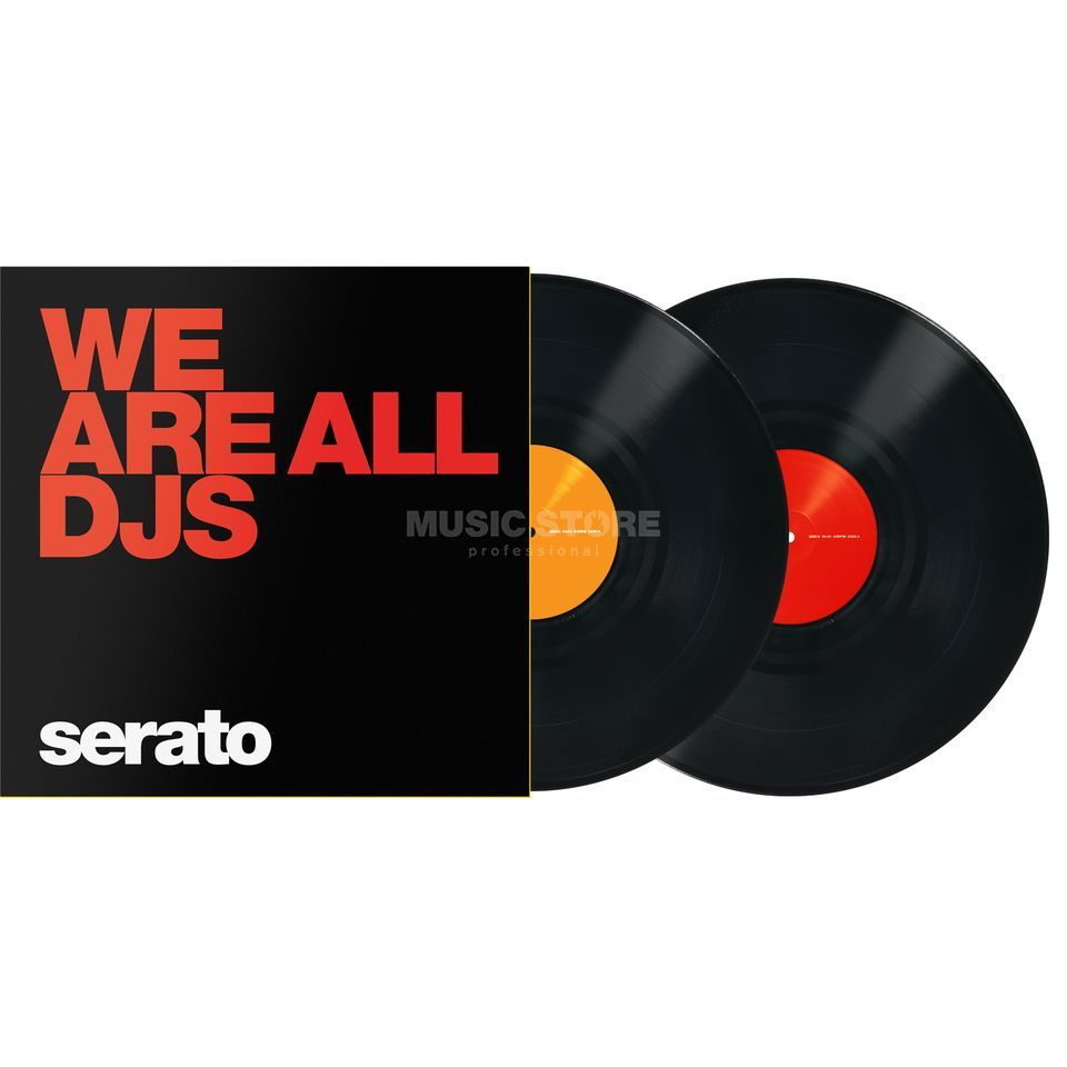 Serato Manifesto Control Vinyls zwart, We are All DJs Productafbeelding
