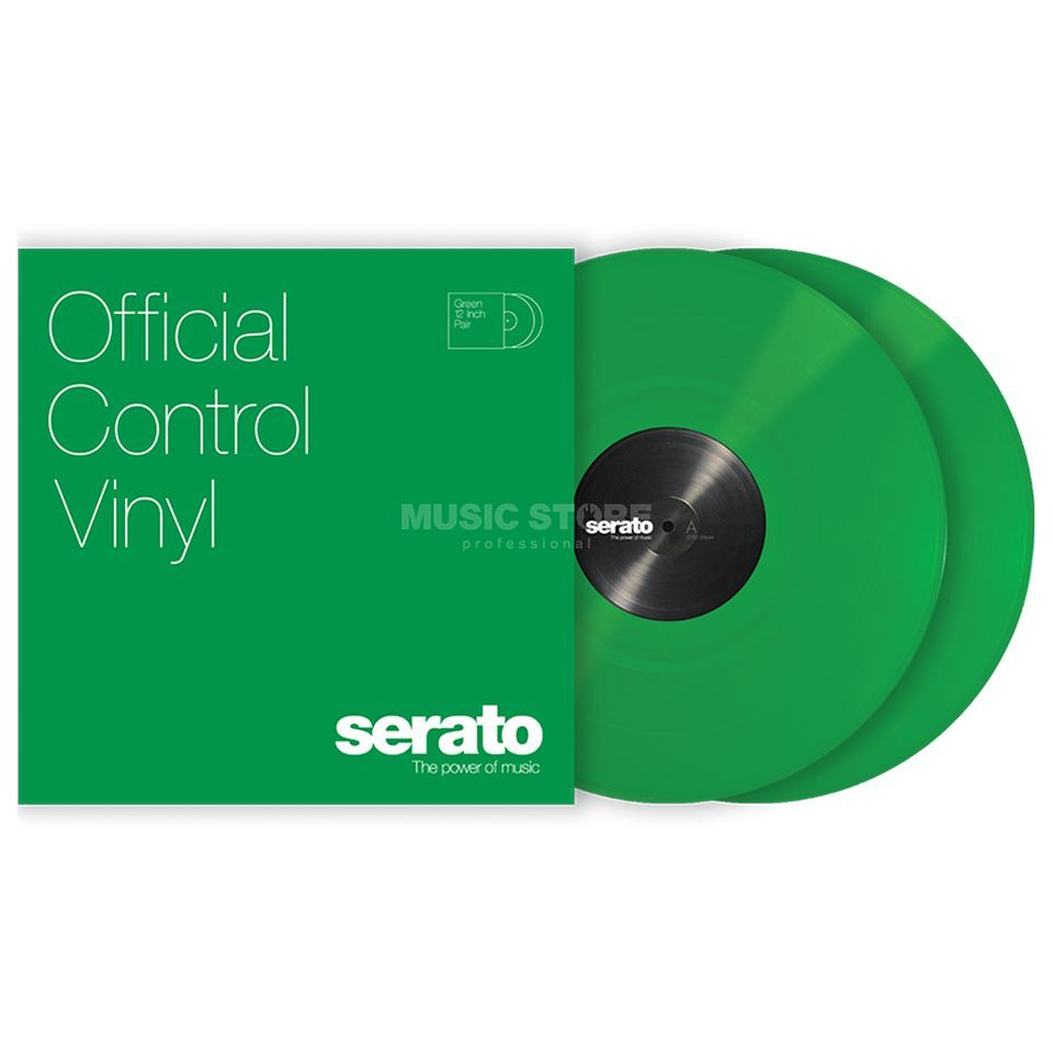 Serato Performance Control Vinyl Green (pair) Product Image