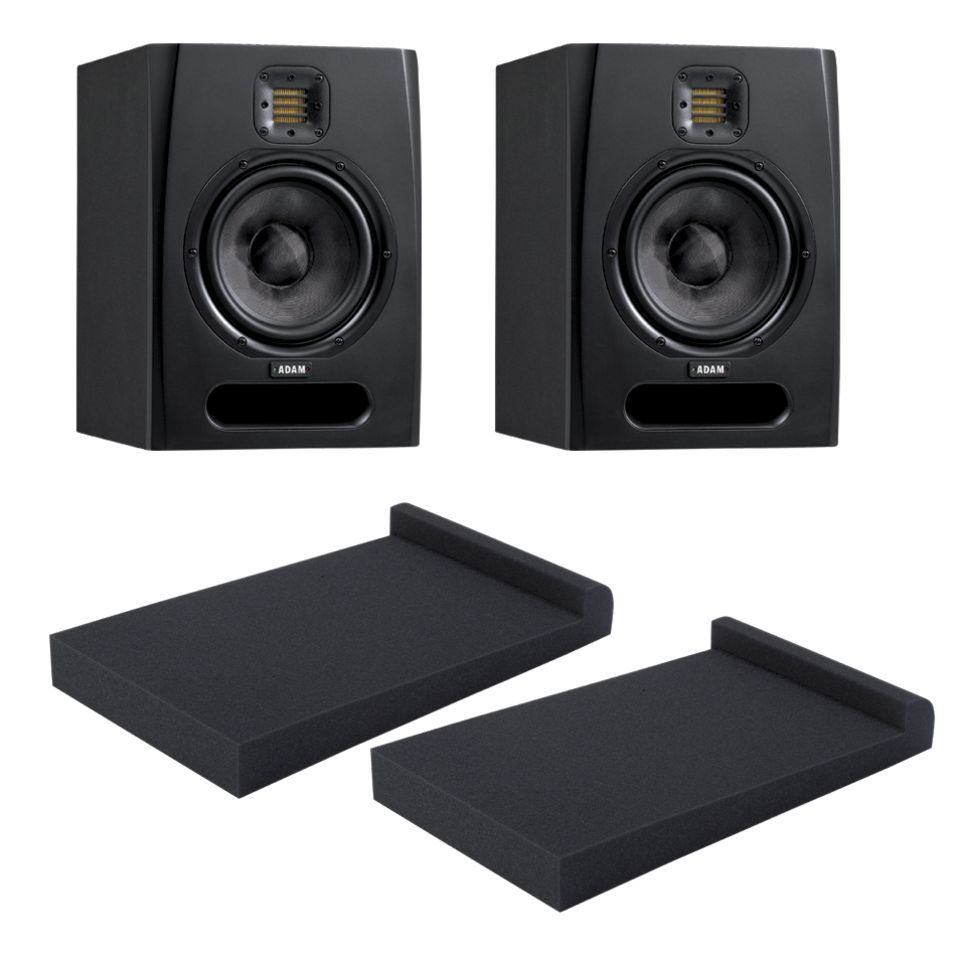 SET ADAM F7 + 2 XLR Kabel 2 Fame Speakerpads Bundle Produktbild