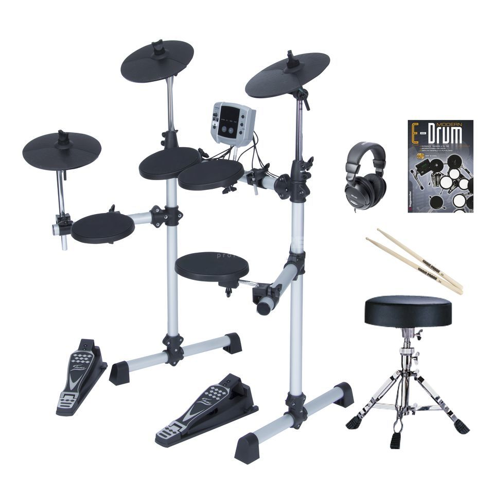 SET DD Lite E-Drum Bundle, inkl. Hocker, Kopfh. & Noten Produktbild
